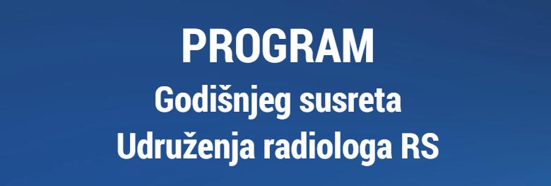 Program Godišnjeg susreta Radiologa RS